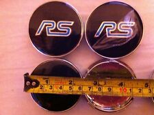 FORD RS ALLOY WHEELS CENTER CAPS SET (4) RED Face 60 MM CLIP 58MM