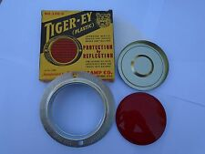 FORD GPW SCRIPT AND WILLYS MB SLAT GRILL TIGER-EY PLASTIC REFLECTOR WITH BEZEL