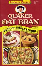 Favorite Recipes QUAKER OAT BRAN Hot Cereal Cookbook #9 1989