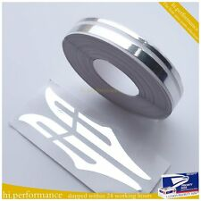 CHROME 12mm PIN STRIPE PinStriping Double TAPE Decal Vinyl Sticker CAR BODY