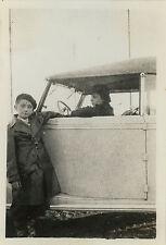 PHOTO ANCIENNE - VINTAGE SNAPSHOT - VOITURE AUTOMOBILE DÉCAPOTABLE FEMME ENFANT