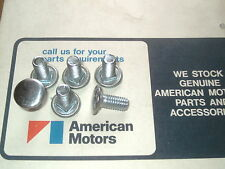 AMC Rambler 6 New Bumper Bolts AMX Javelin Rebel Machine Ford Falcon Comet 7/16