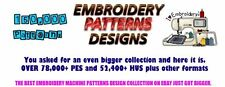 150,000+ Embroidery Machine Patterns Designs in .PES & .HUS format on DVDS-FREE