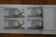 New Zealand Notes Kate Sheppard UNCUT $10 Ten Dollar Collector Uncirculated Mint