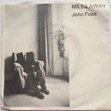 "John Foxx - Miles Away - Metal Beat/Virgin Records 7"" Picture Sleeve Single"