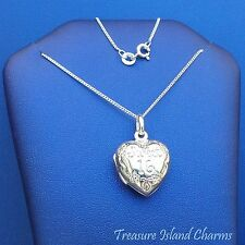 "SWEET 16 SIXTEEN BIRTHDAY HEART .925 Sterling Silver LOCKET Necklace 16"" or 18"""