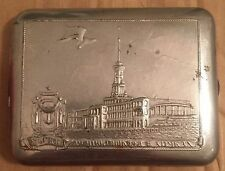 USSR Russia cigarette case Moscow river station