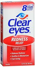 Clear Eyes Redness Relief Drops 1 oz (Pack of 3)