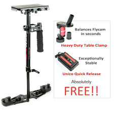 FLYCAM HD 3000 Handheld Stabilizer + Quick Release + Table Clamp + Carrybag