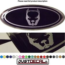 6.35x2.375 PITBULL overlay decal sticker logo pit bull FITS specific ford emblem