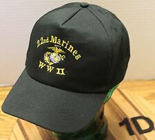 VERY ICE 22ND MARINES WWII WORLD WAR 2 HAT BLACK EMBROIDERED SNAPBACK VGC