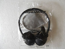 AIR FRANCE flight Headphones headset headband  EYE COVER NEW SEALED