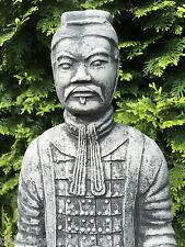 Steinfigur Gartenfigur Figur Krieger Kämpfer Qin Fernost Feng Shui 52 cm 9 kg