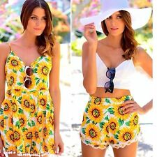 LF paper heart high wasited sunflower shorts with pom pom sz Au8/Small NWT