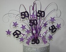 0142 BIRTHDAY DAY CAKE TOPPER DECORATION 18TH 21ST 30TH 40TH 50TH ANY AGE LILAC