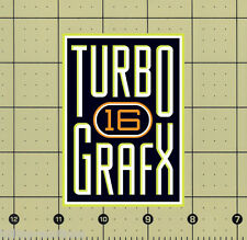 "CUSTOM MADE COLLECTIBLE TURBOGRAFX 16 LOGO MAGNET (2¾""x3⅞"") turbo grafx grafix"