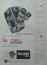 PUBLICITE PAILLARD BOLEX CAMERA LA D8L 8MM B8 L DE 1960 FRENCH AD ADVERT PUB