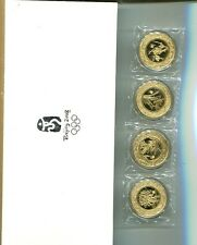 China 2008 4 Coin Olympic Plum Orchid Bamboo Chrysanthemum Proof Set