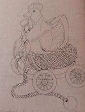 7829/377 Simplicity Craft Hen Chicken Pull Toy Pattern NO Envelope