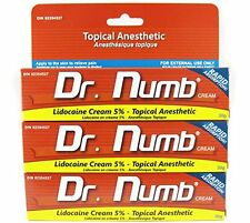 3 TUBE Dr Numb Topical Numbing Anesthetic Skin Cream for Tattoo Pain Genuine