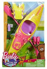 BARBIE CAMPING FUN WATER CRAFT KAYAKI DYX07 *NEW*