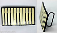 New Cream Black Keyboard Piano Belt Buckle Yamaha Music Intrument Buckles