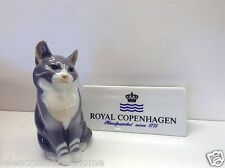 Royal Copenhagen Abzehbilder no.1803 - cat - Grey playing - {Royal Copenhagen}
