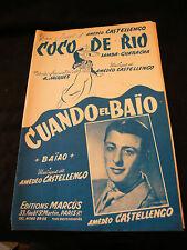 Partition Coco de Rio Amédéo Castellengo Cuando el Baio Amédéo Music Sheet