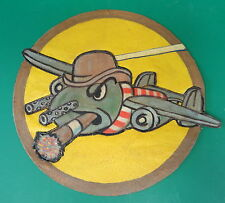 22ND BOMBARDMENT SQUADRON PATCH- LAYERED LEATHER B-25'S