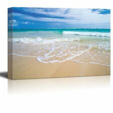 Canvas Prints- Romantic Scene of Sea Waves on the Tropical Hawaii Beach- 16 x 24