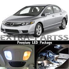 8x White Interior LED Light Package Kit Dome 2006-2012 Honda Civic Sedan Coupe