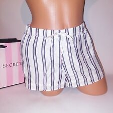 Victoria Secret Sleep Wear Short 100% Silk Purple White Stripe X-Large XL NEW