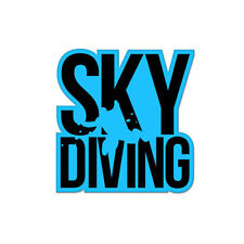 "Skydiving Skydiver Vinyl Car Sticker Decal 4"" x 4"""
