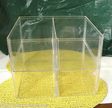 6 CLEAR STACKABLE SHOE BIN ORGANIZER BOX BOXES