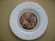 "CHRISTMAS COLLECTOR PLATE COALPORT BONE CHINA PRATT 1980 ""Blind man's buff"""