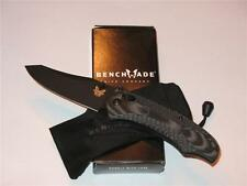 Benchmade Rift Black/Gray G10 Black Plain Blade Knife 950BK