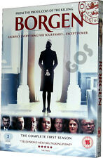 Borgen The Complete First Season DVD TV Danish Political Drama Series Boxset New