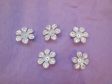 10X Soft White sew on acrylic flowers bridal beads Sewing Any purpose diy 26mm
