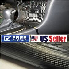 "4D Premium Carbon Fiber Vinyl Wrap Film BUBBLE FREE Sheet Sticker Decal 60""x60"""