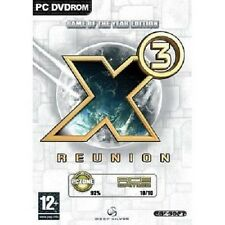 X3 Reunion GOTY Game of the Year (PC DVD 3D Space Simulator) W/Paper Manual, NEW