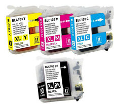 4 pack Ink cartridge for Brother LC103 XL LC101 MFC-J470DW MFC-J475DW Printer