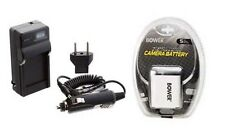Battery + Charger for Casio EXZ85BN EXZ85EO EXS10BK EXS10BE EX-S10BK EX-S10RD