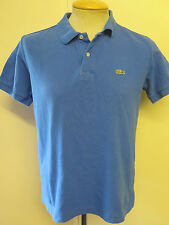 "Genuine vintage lacoste men's blue polo shirt taille 36-38"" s"