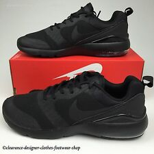 NIKE AIR MAX SIREN TRAINERS MENS TRIPLE BLACK CASUAL RUN SHOES UK 9.5 RRP £100