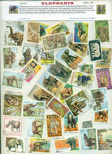 Elephants (40Different Large)-STAMP PACKET