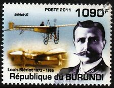 LOUIS BLERIOT XI (English Channel) & Blériot V Canard Aircraft Stamp (2011)