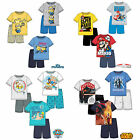 Boys Pyjamas Short Sleeve T-Shirt Shorts Set New Official 2016 Age 2-12 Years