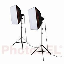 PhotoSEL ls21e52 Softbox Studio Illuminazione Kit 2x85w 5000lm 5500k 90+ CRI Luce