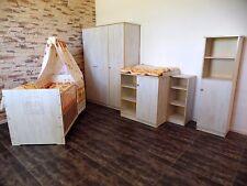 chambre de bébé Meubles pour enfants set de lit 5 Armoire 2 étagères Commode