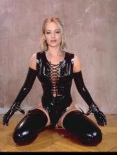 Jennifer Lawrence Sexy 8.5x11 latex bondage photo JL-0003